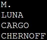 M. LUNA CARGO CHERNOFF